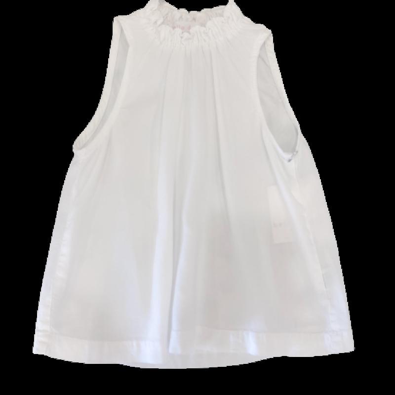 Bella Dahl Girl Bella Dahl Girl Shirring Neck Sleevless Top - Shell White
