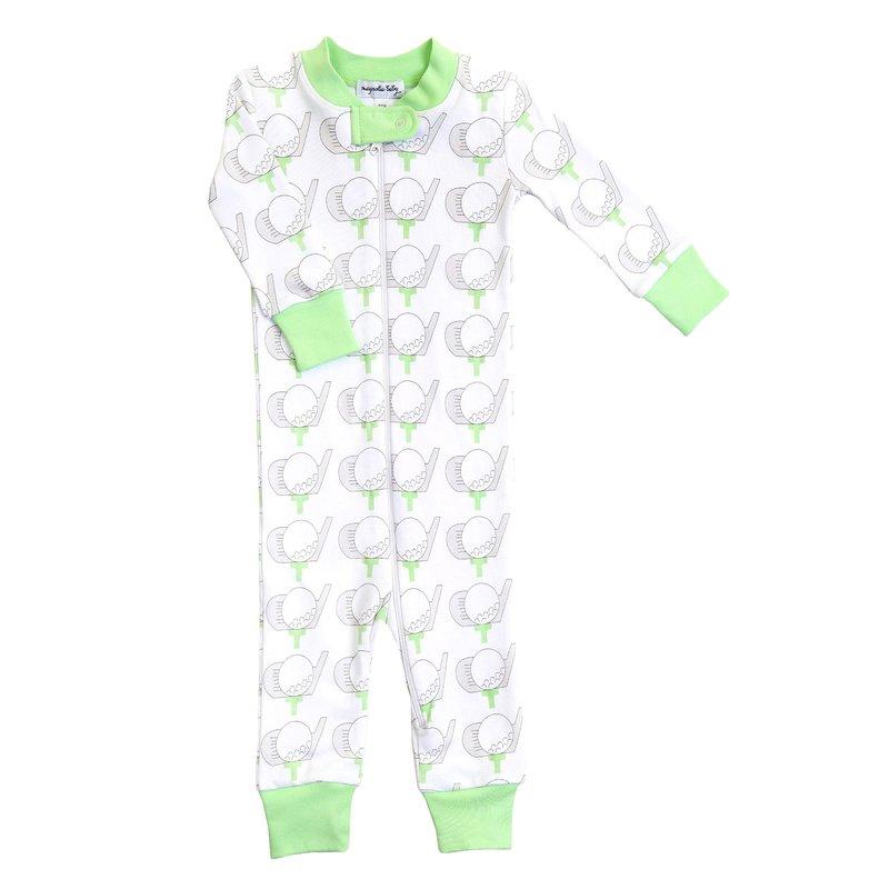 Magnolia Baby Magnolia Baby Golf Celery Zipped Pajama