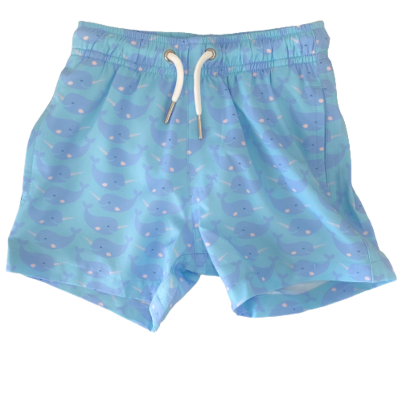 Bermies Bermies Blue Whale Swim Trunks