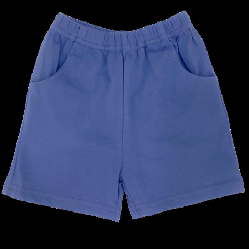 Luigi Luigi Jersey Shorts w/ Pockets - Dark Chambray
