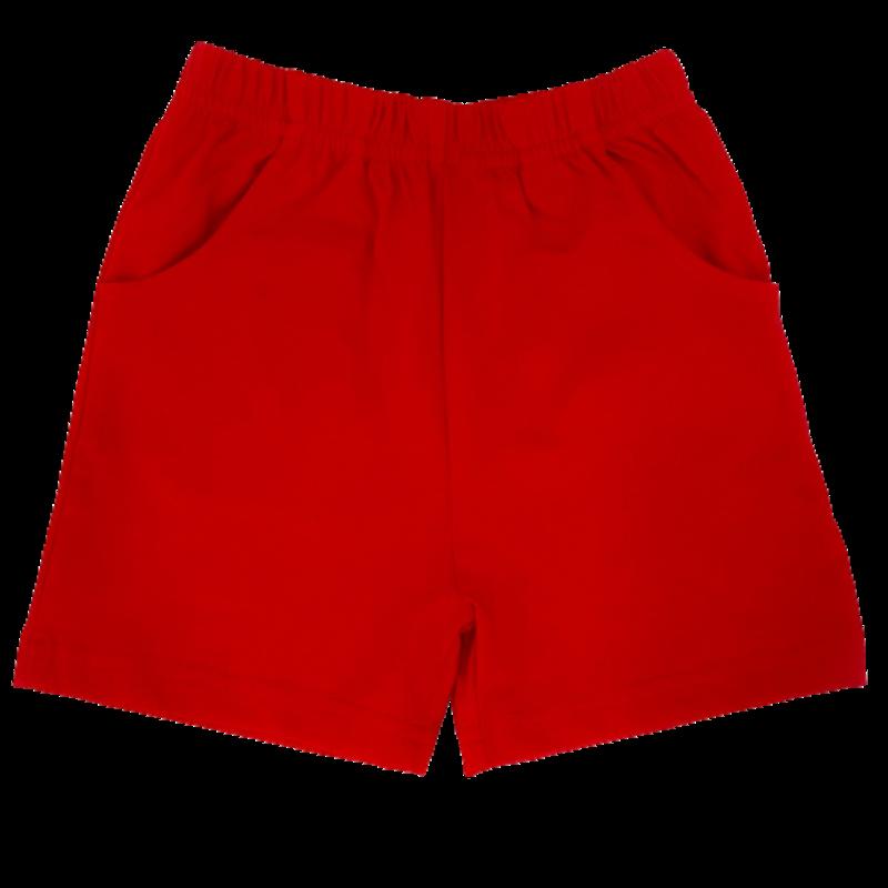 Luigi Luigi Jersey Shorts w/ Pockets - Deep Red