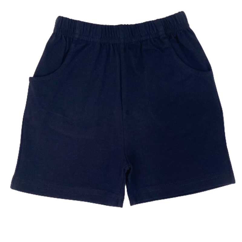 Luigi Luigi Jersey Shorts w/ Pockets - Navy