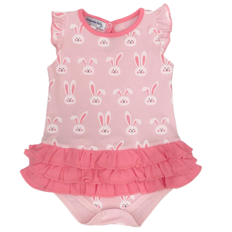 Magnolia Baby Magnolia Baby Bunnies Pink Ruffle Flutters Bubble
