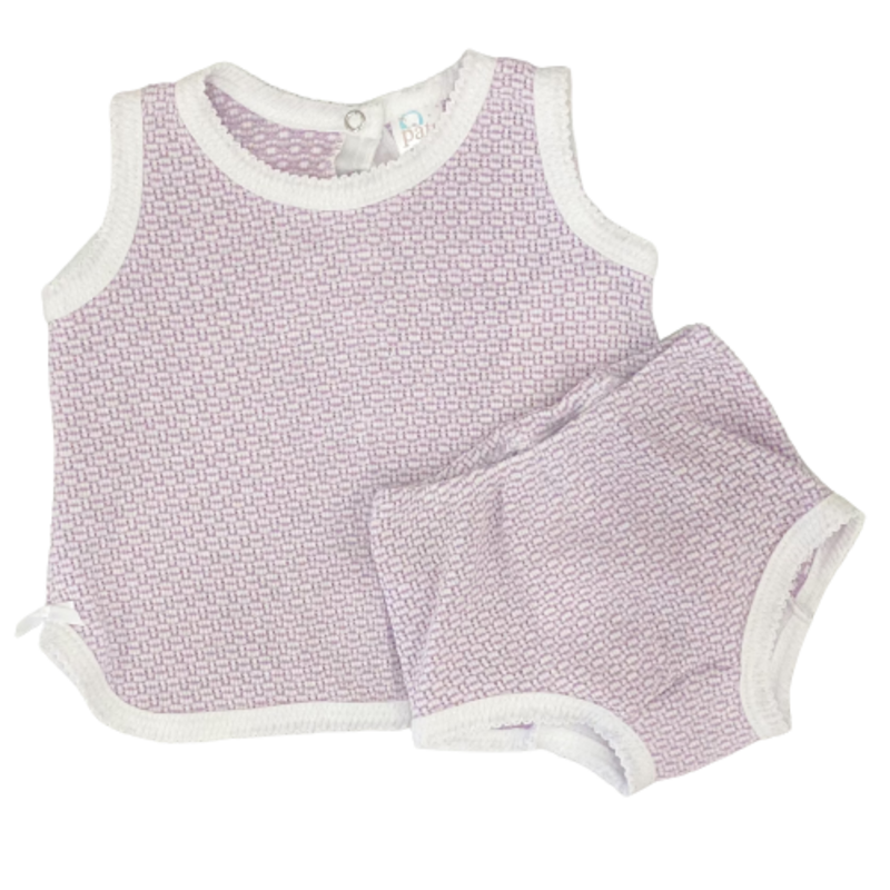 Paty Paty Lavender Sleeveless Top w/ Diaper Cover