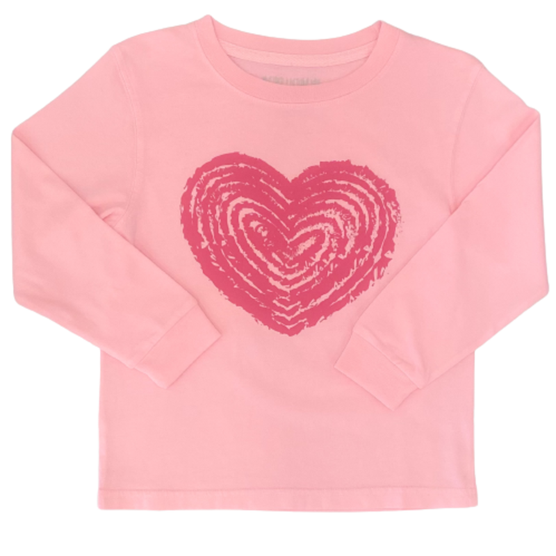 Mustard & Ketchup Mustard & Ketchup Pink Heart LS T-Shirt