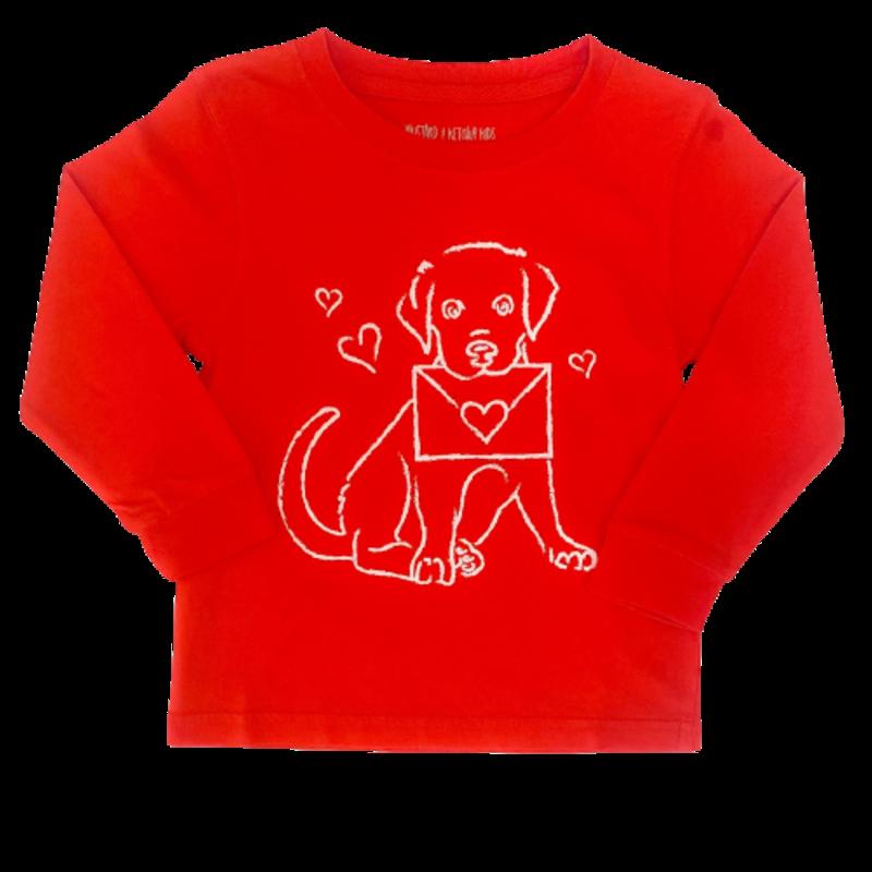 Mustard & Ketchup Mustard & Ketchup Red Pup LS T-Shirt