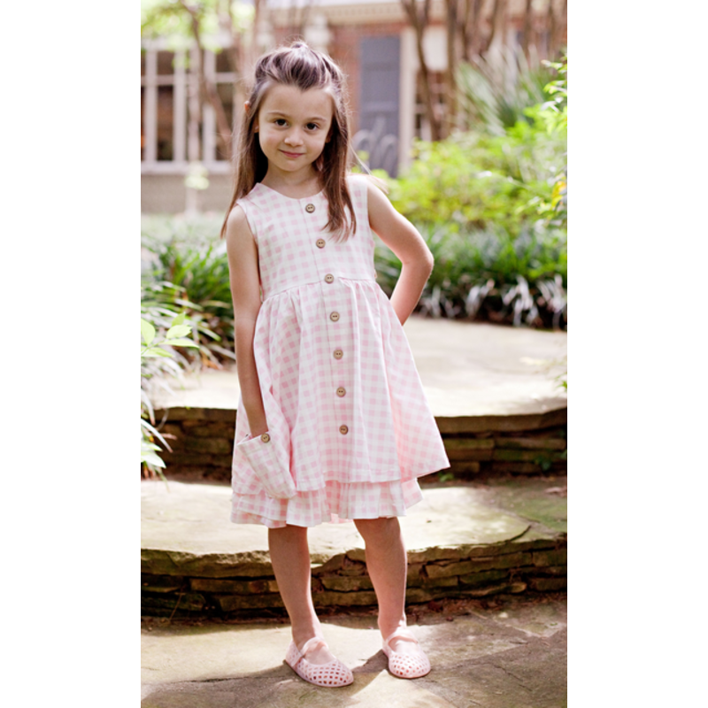 Charming Mary Charming Mary Chessie Twirl Dress - Pink Gingham