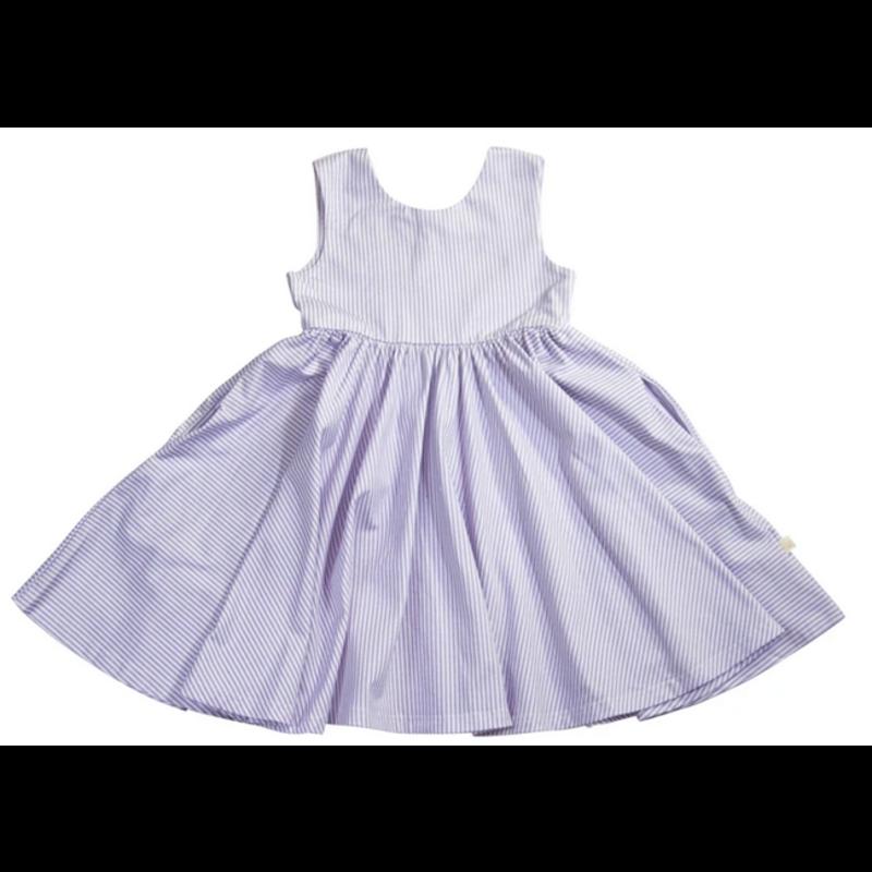 Charming Mary Charming Mary Birdie Pocket Twirl Dress - Lavender Trellis