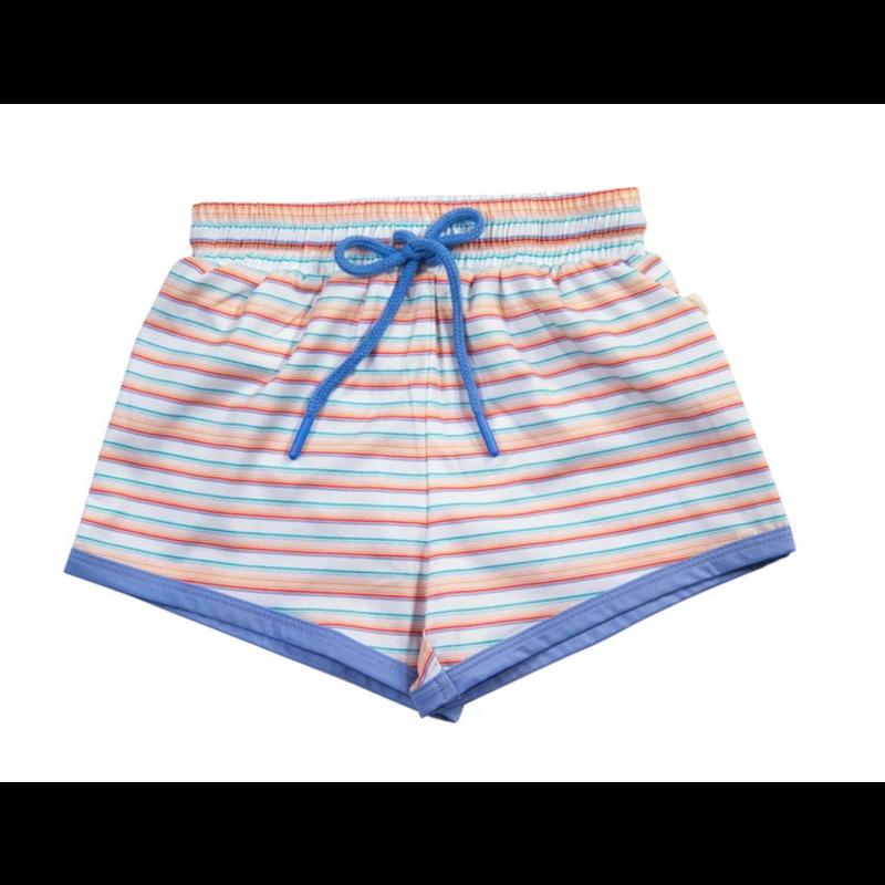 Charming Mary Charming Mary Swim Trunk - Retro Rainbow Stripe