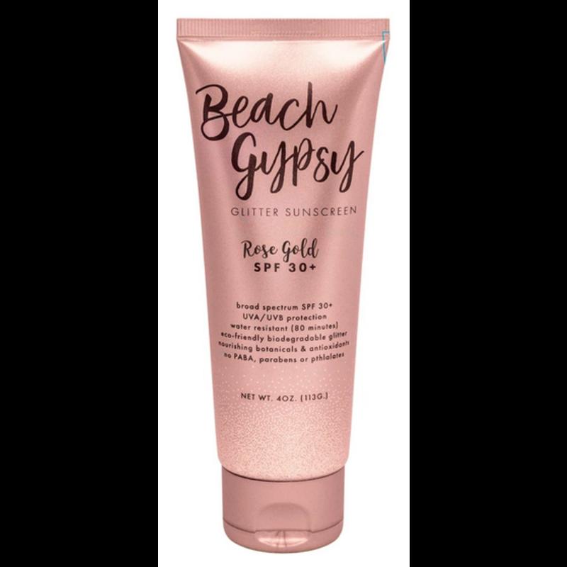 Sunshine & Glitter Beach Gypsy Rose Gold Glitter Sunscreen