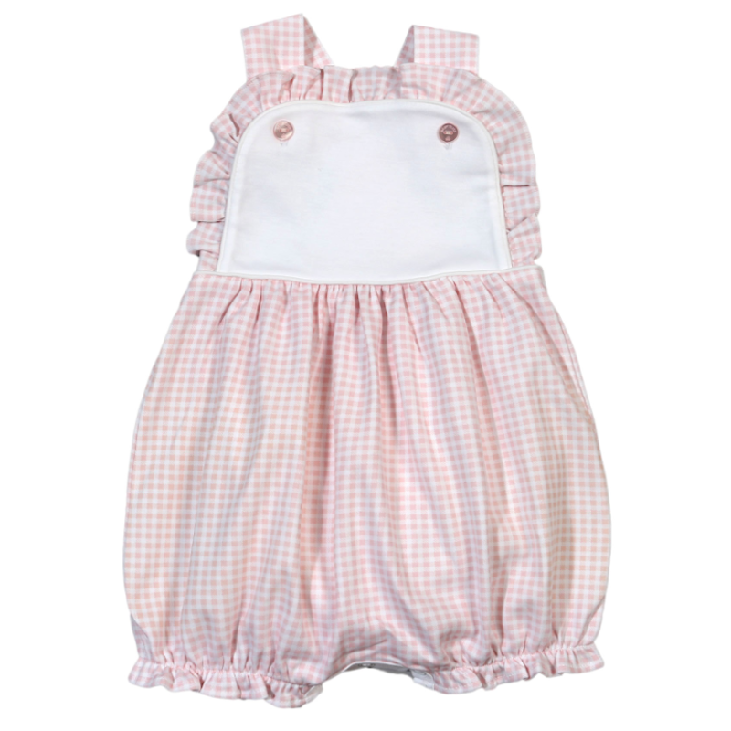 Baby Bliss Olivia Pink Gingham Sun Bubble