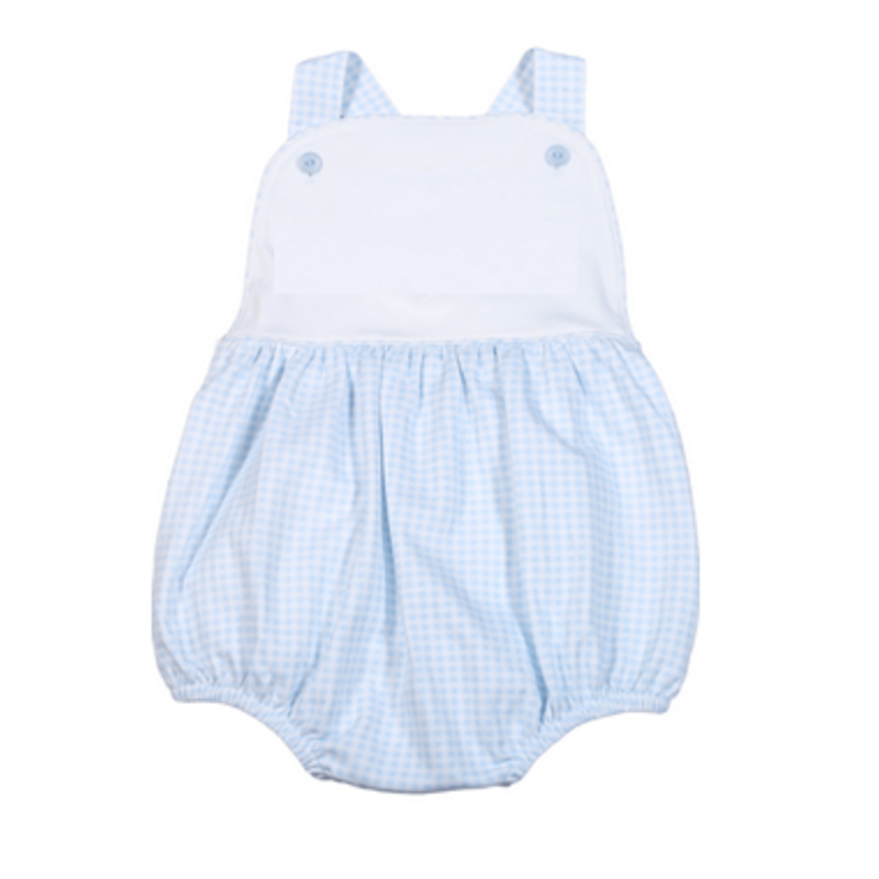 Baby Bliss Peter Blue Gingham Sun Bubble