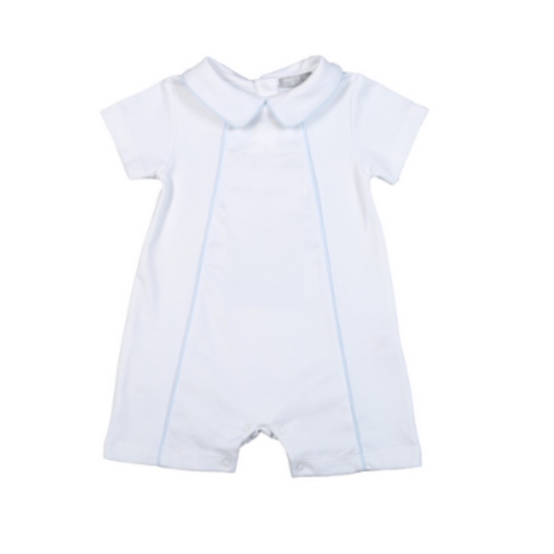 Baby Bliss Thomas White/Blue Playsuit