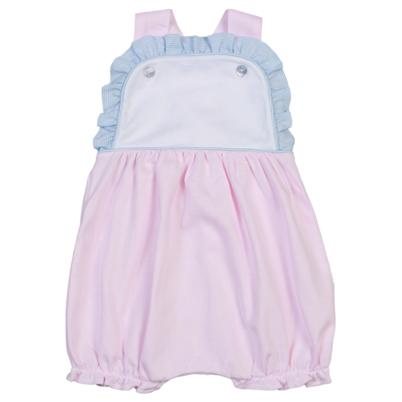 Baby Bliss Jay Pink/Blue Tiny Stripes Sun Bubble