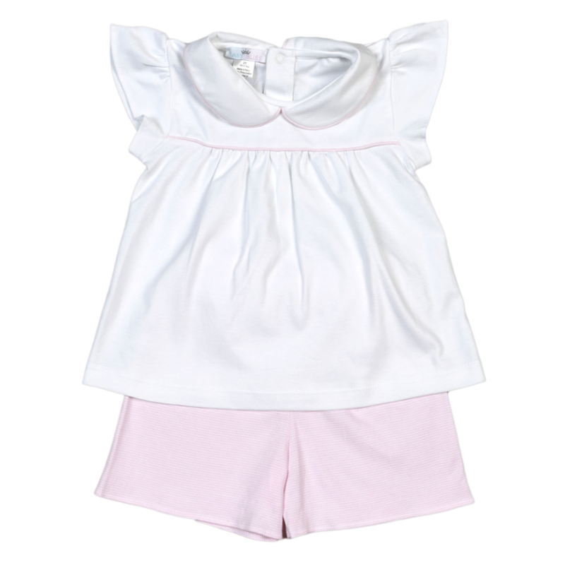 Baby Bliss Jay Pink Tiny Stripes Short Set