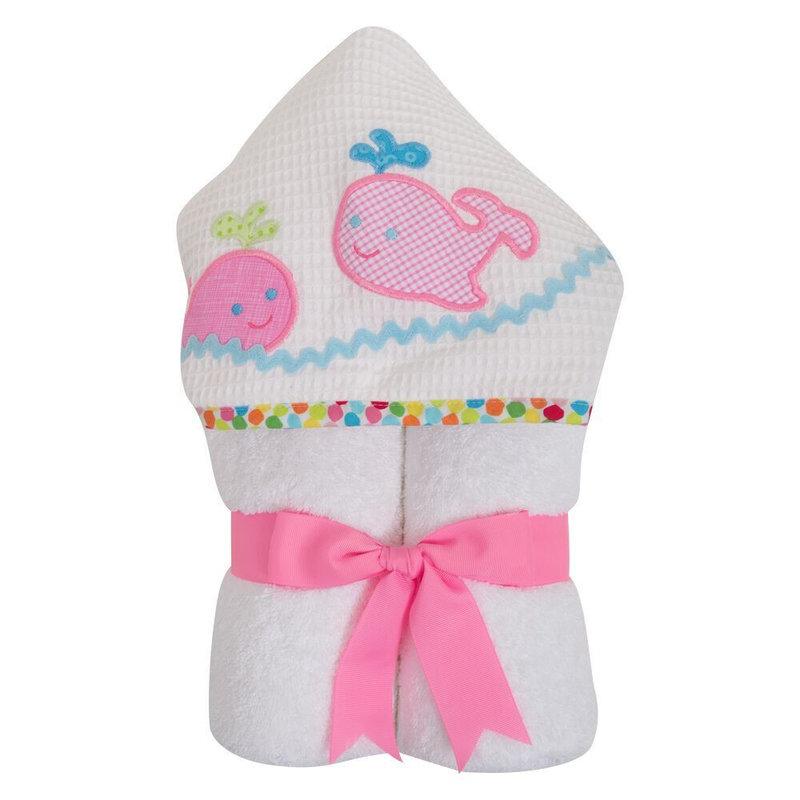 3 Marthas 3 Marthas Pink Whale Everykid Towel