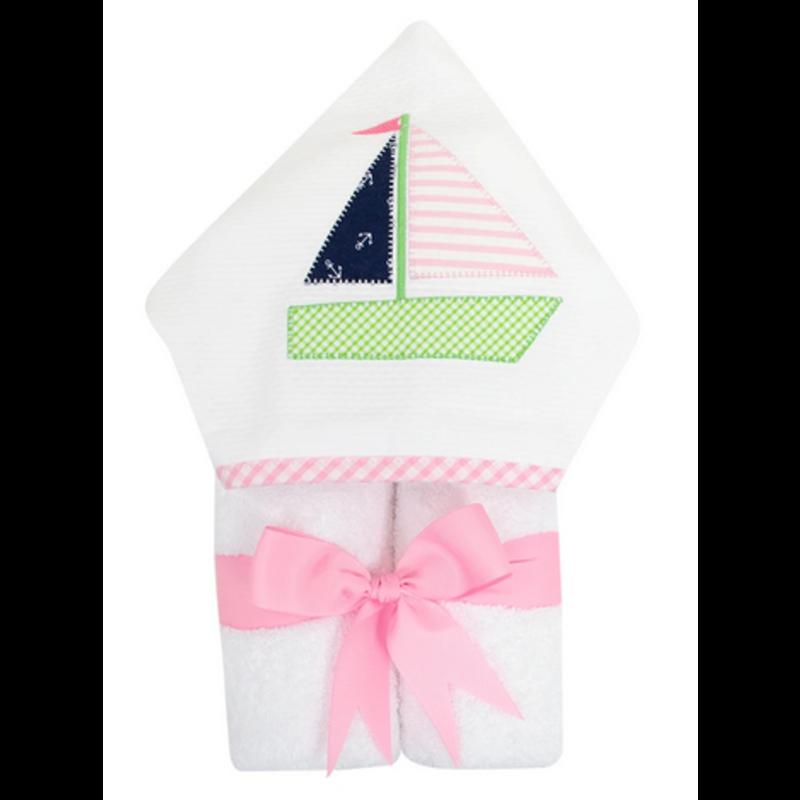 3 Marthas 3 Marthas Pink Sailboat Everykid Towel