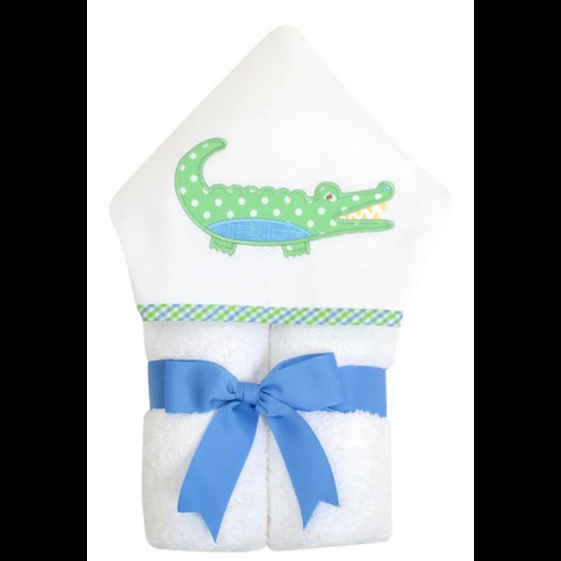 3 Marthas 3 Marthas Blue Alligator Everykid Towel