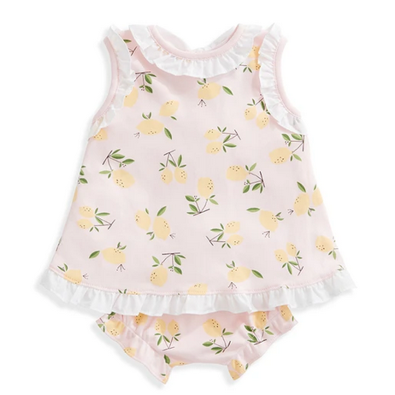 bella bliss bella bliss Pink Lemons Clara Pima Bloomer Set