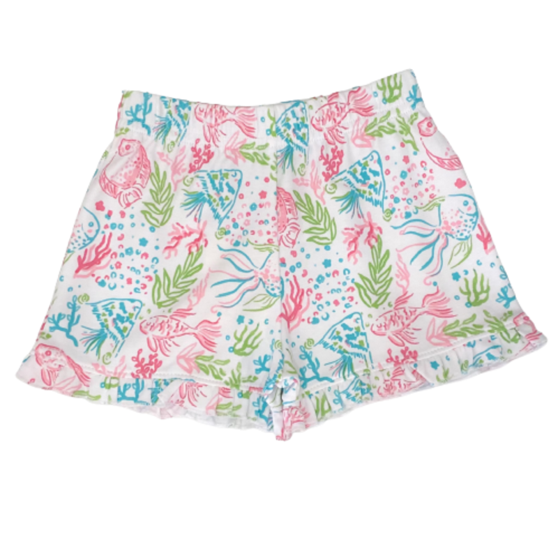 Luigi Luigi Girls Tropical Fish Print Shorts