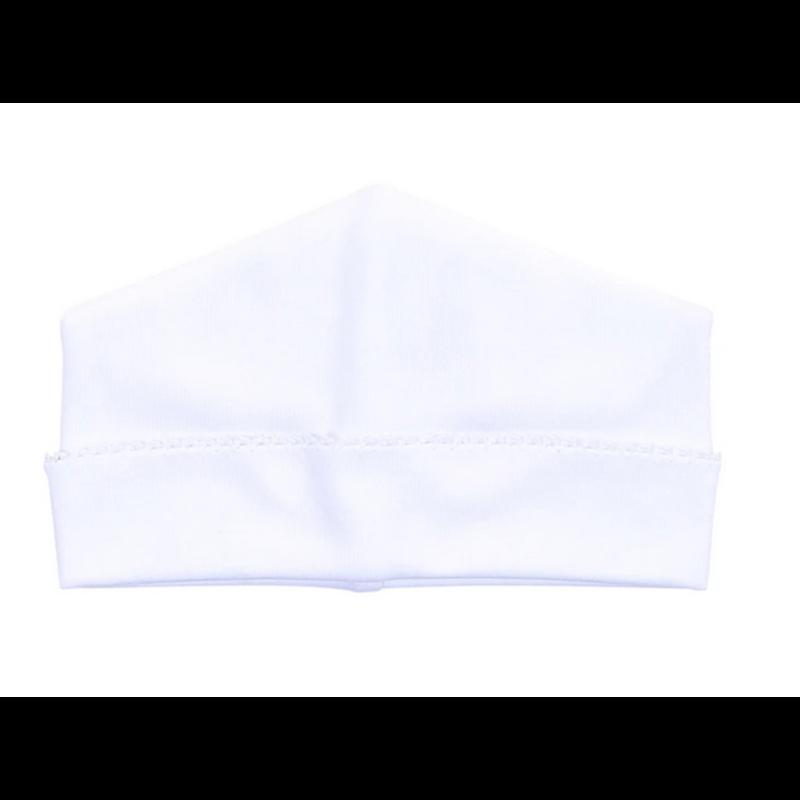 Magnolia Baby Magnolia Baby Essentials Emb White w/White Trim Hat