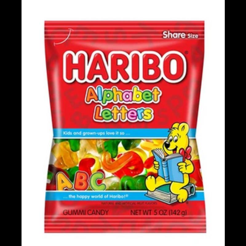 Grandpa Joe's Haribo Gummy Alphabet letters