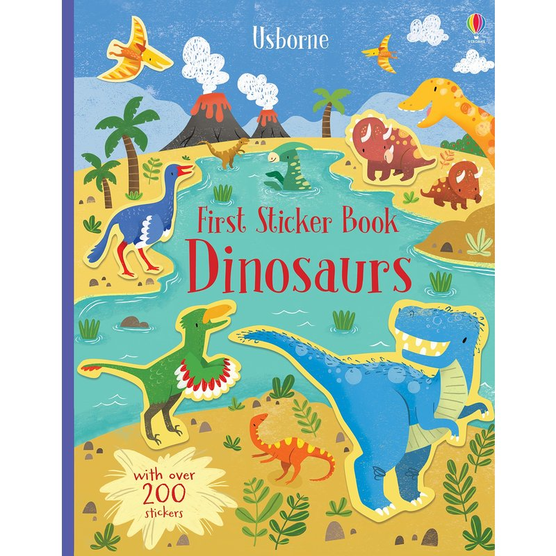 EDC/USBORNE First Sticker Book Dinosaurs