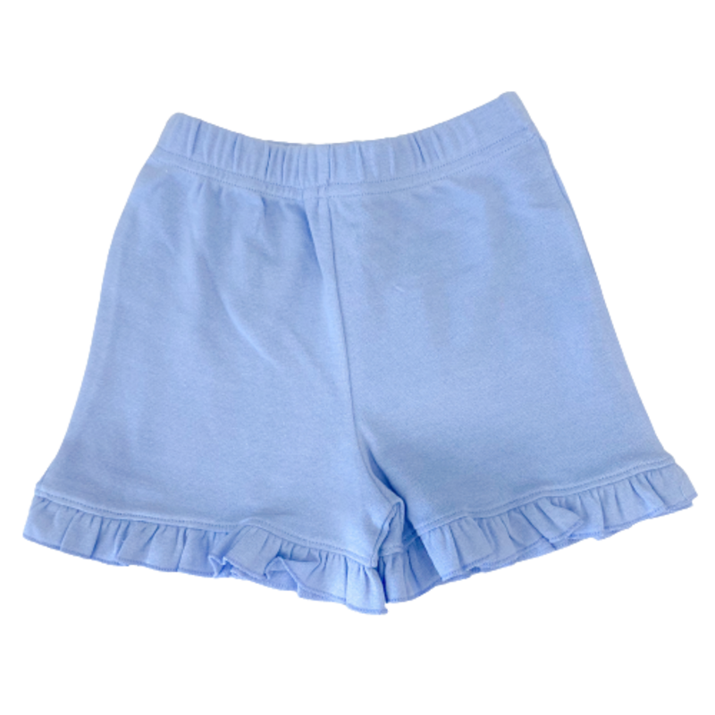 Luigi Luigi Girl's Sky Blue Ruffle Shorts