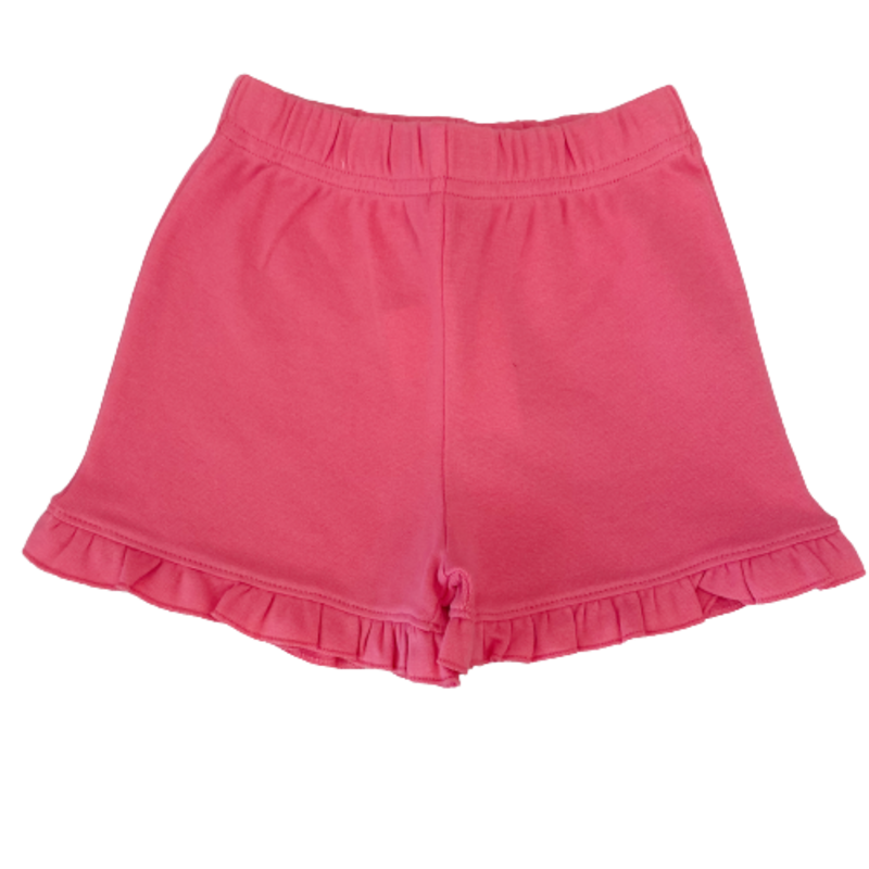 Luigi Luigi Girl's Hot Pink Ruffle Shorts