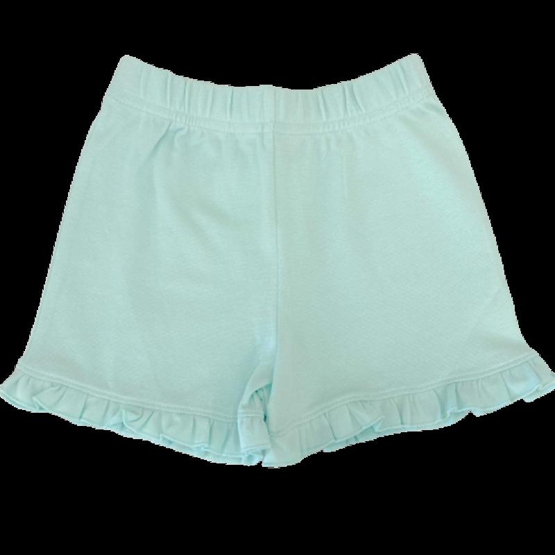 Luigi Luigi Girl's Light Jade Ruffle Shorts