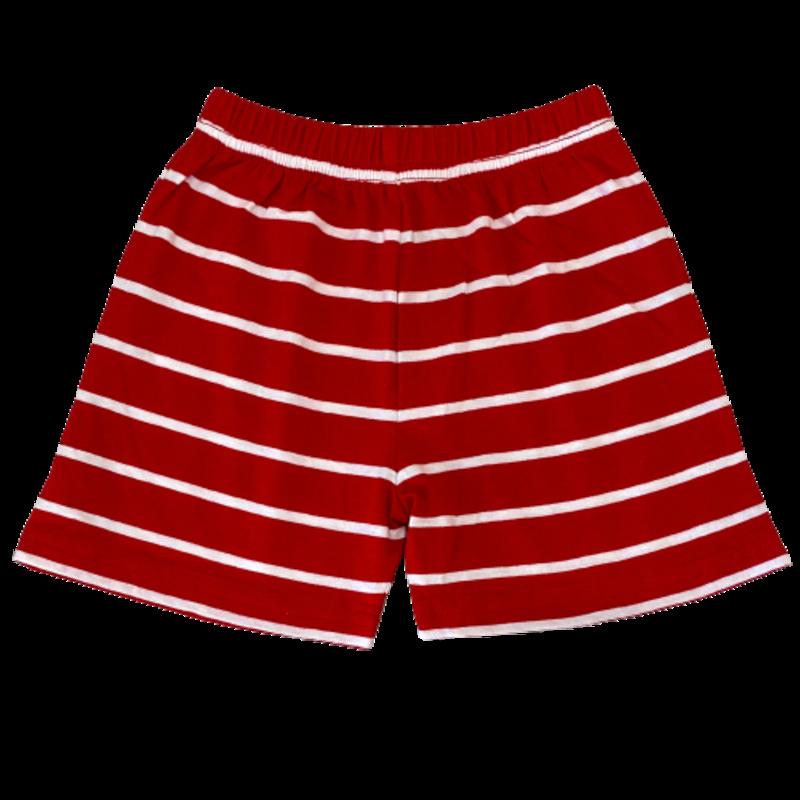 Luigi Luigi Jersey Stripe Deep Red/White Shorts