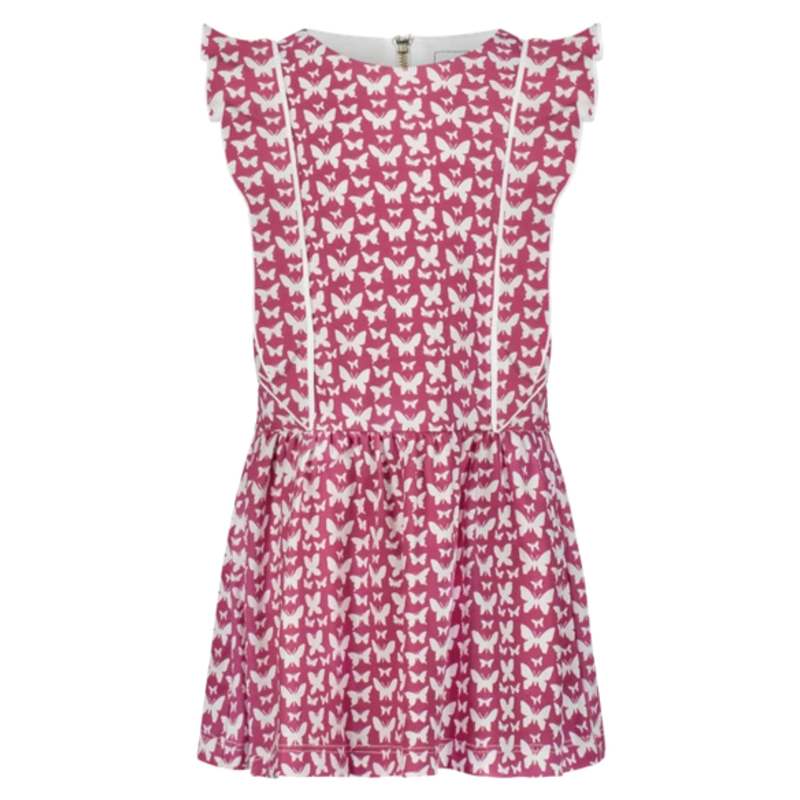 Lila + Hayes Lila + Hayes Amelia- All Aflutter Flutter Sleeve Dress