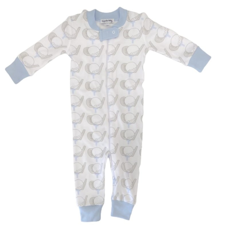 Magnolia Baby Magnolia Baby Golf Blue Zipped Pajama