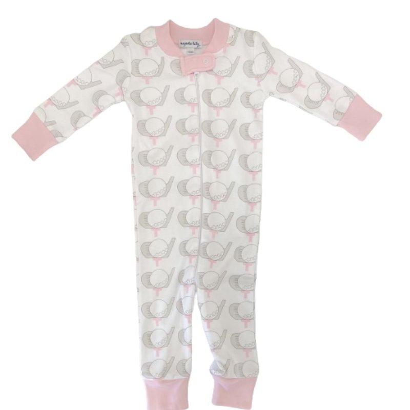 Magnolia Baby Magnolia Baby Golf Pink Zipped Pajama