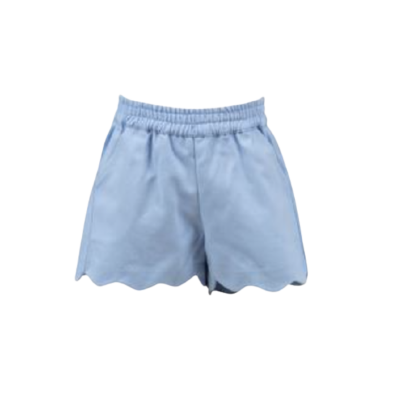 The Proper Peony The Proper Peony Susie Scallop Shorts - Blue
