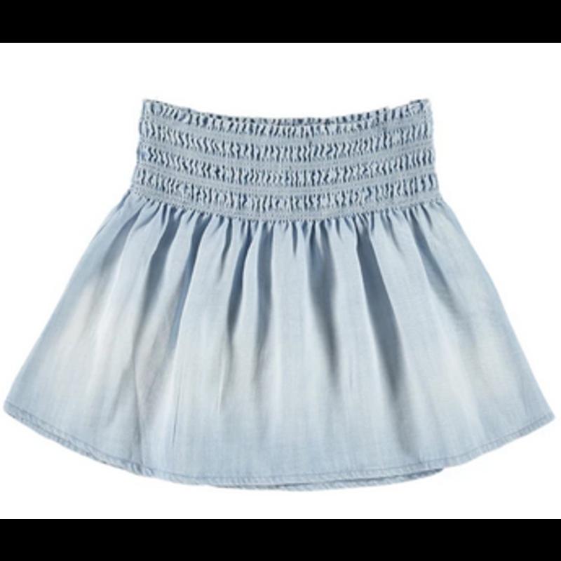 Bella Dahl Girl Bella Dahl Girl Powder Blue Smock Waist Flutter Skirt