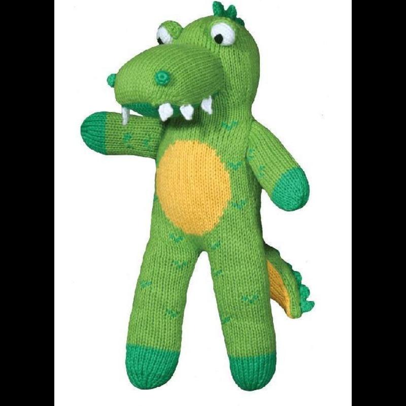 """Zubels Zubels Big Al The Alligator 12"""" Knit Doll"""