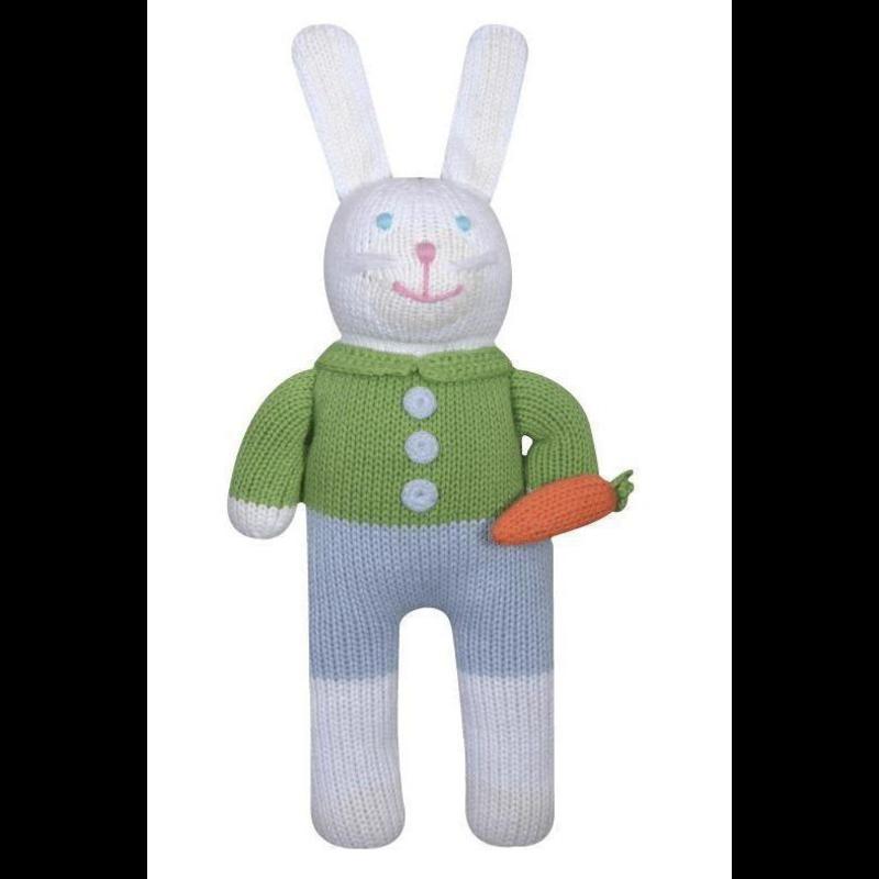 "Zubels Zubels Collin The Bunny 7"" Knit Rattle"