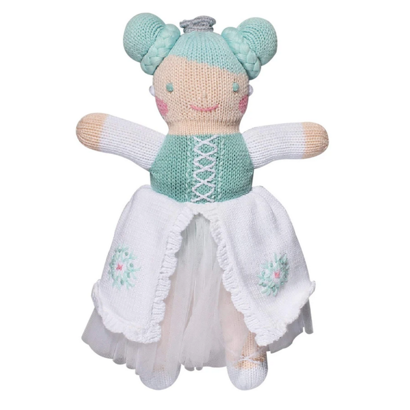 """Zubels Zubels Charlotte The Ice Princess 7"""" Knit Rattle"""