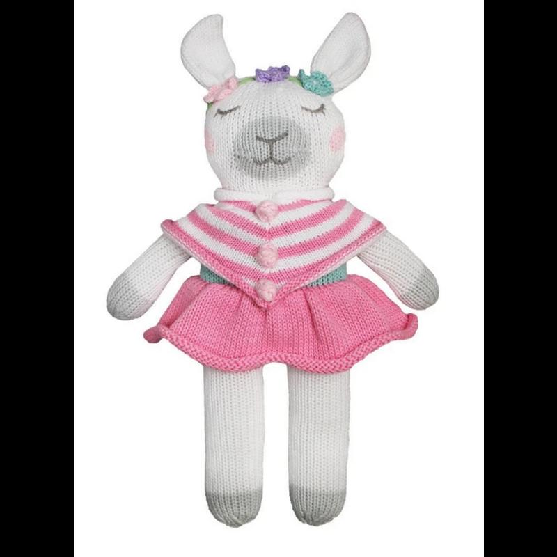 "Zubels Zubles Lou The Llama 12"" Knit Doll"