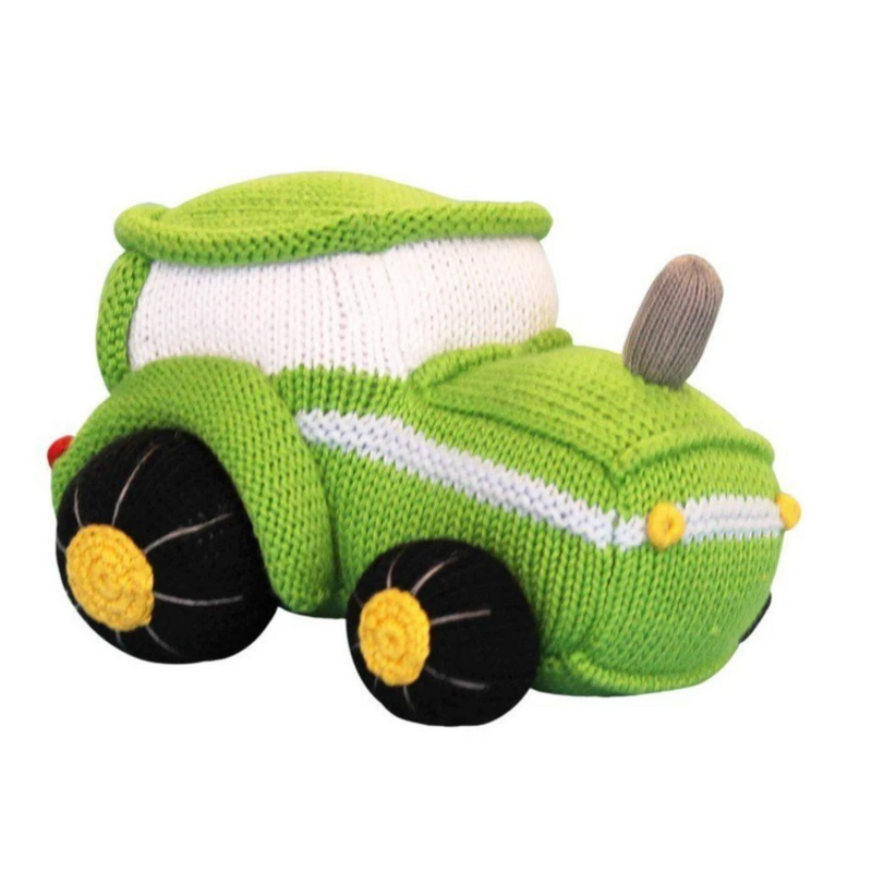 """Zubels Zubels Tobey The Tractor 7"""" Knit Toy"""