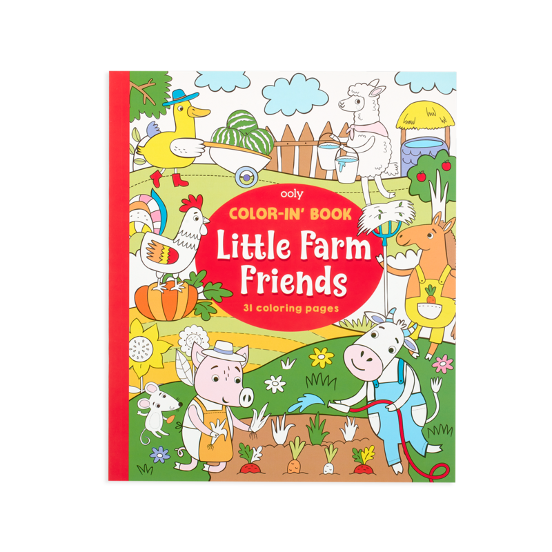 Ooly Ooly Color-in' Book: Little Farm Friends