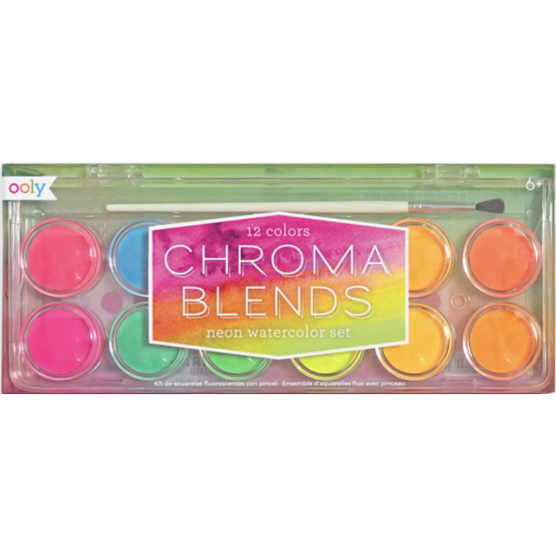 Ooly Ooly Chroma Blends Neon Watercolor Paints