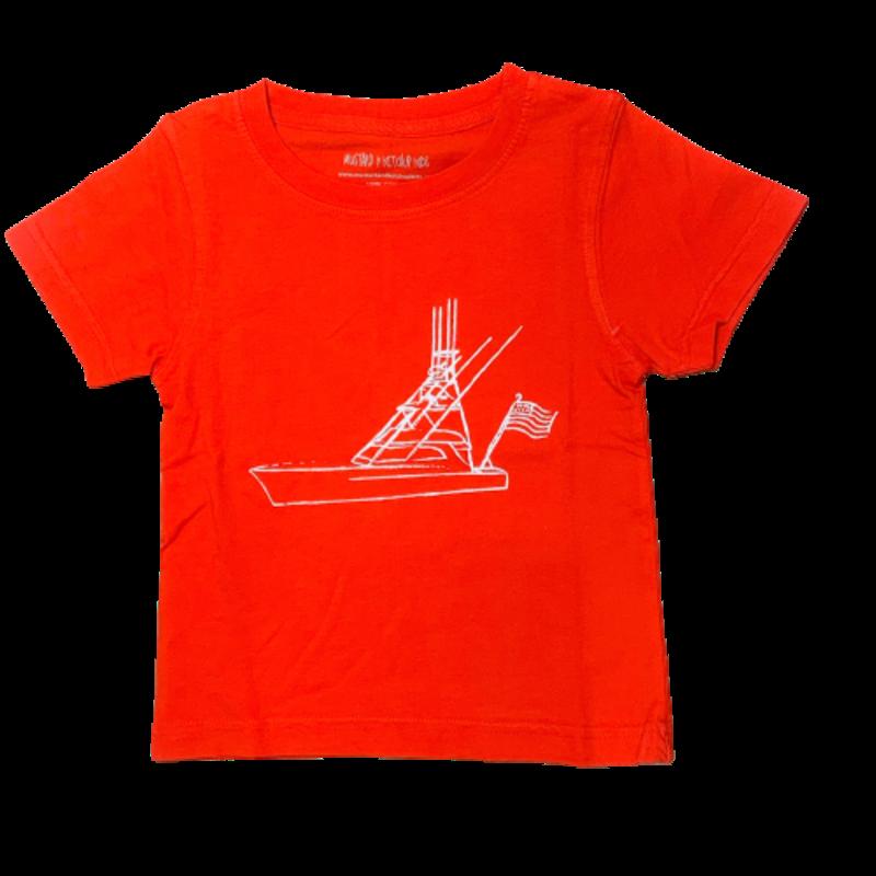 Mustard & Ketchup Mustard & Ketchup Fishing Boat w/Flag T-Shirt