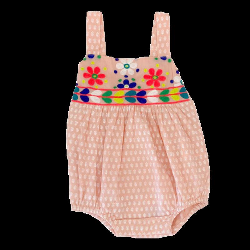 Cheeni Misha Peach Embroidered Bubble