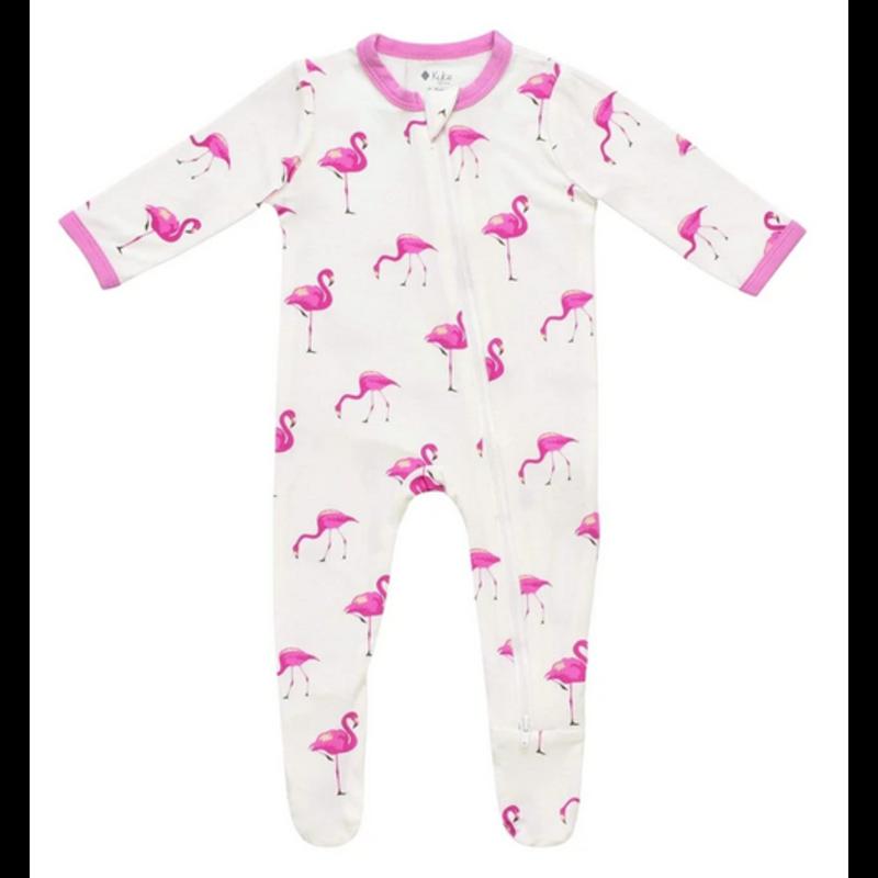 Kyte Baby Kyte Baby Flamingo Printed Zippered Footie