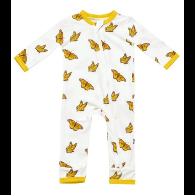 Kyte Baby Kyte Baby Monarch Printed Zippered Romper