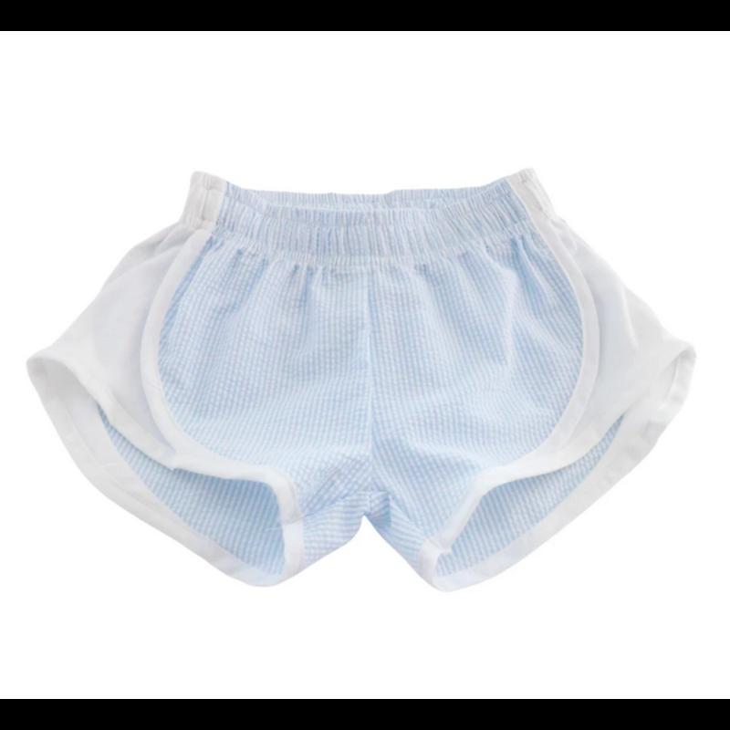 Funtasia Too Funtasia Too Light Blue Stripe Athletic Shorts