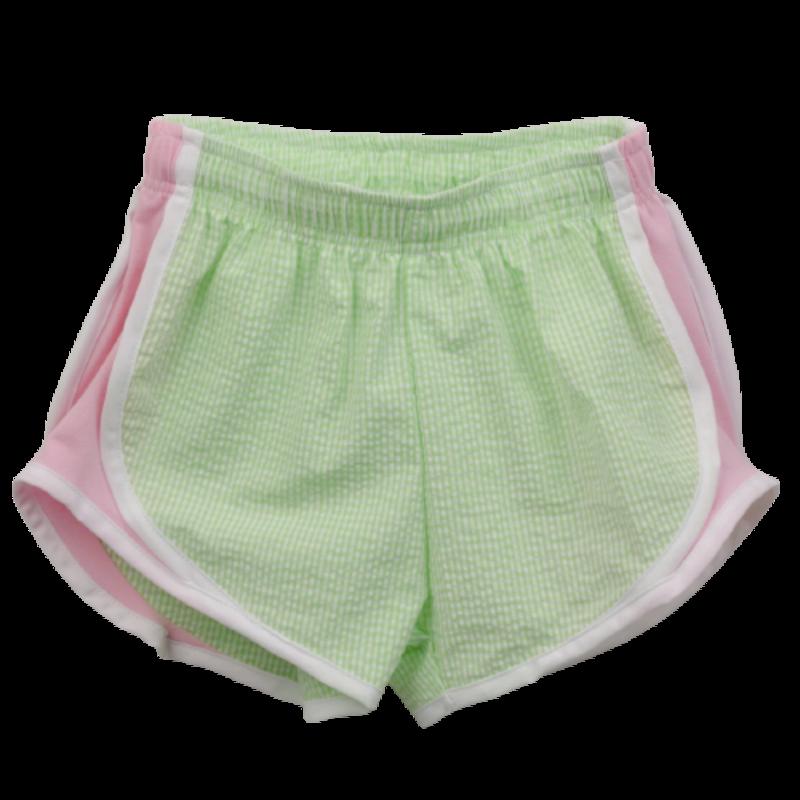 Funtasia Too Funtasia Too Lime Check Athletic Shorts