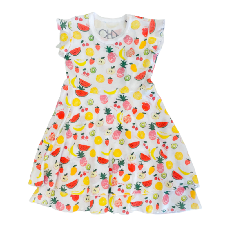 Chaser Chaser Fruity Tiered Dress